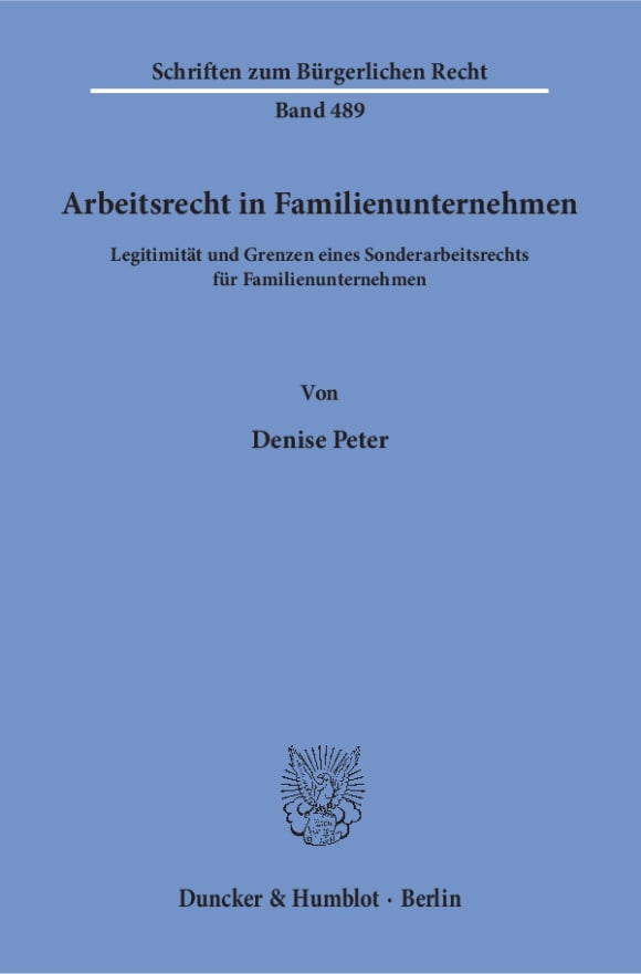 Cover Arbeitsrecht in Familienunternehmen