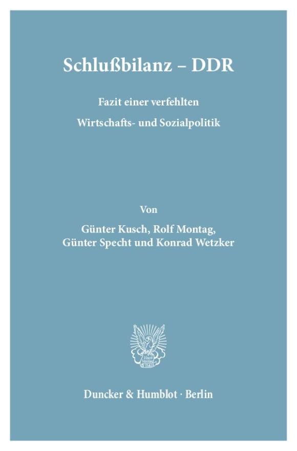 Cover Schlußbilanz – DDR