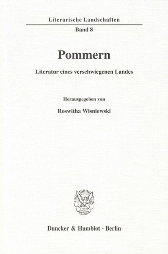 Cover Pommern - Literatur eines verschwiegenen Landes