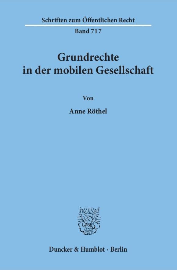 Cover Grundrechte in der mobilen Gesellschaft