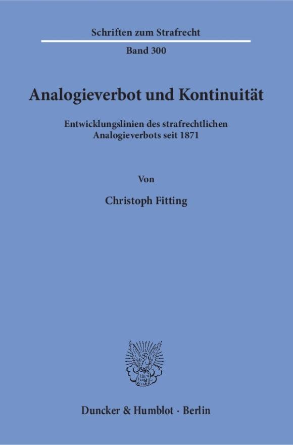 Cover Analogieverbot und Kontinuität