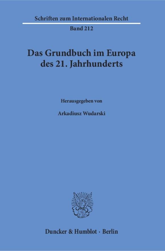 Cover Das Grundbuch im Europa des 21. Jahrhunderts
