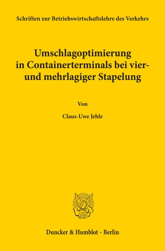 Cover Schriften zur Betriebswirtschaftslehre des Verkehrs (SBV)