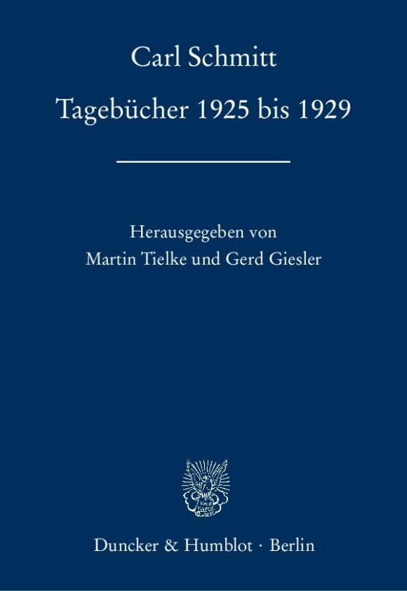 Cover Tagebücher 1925 bis 1929