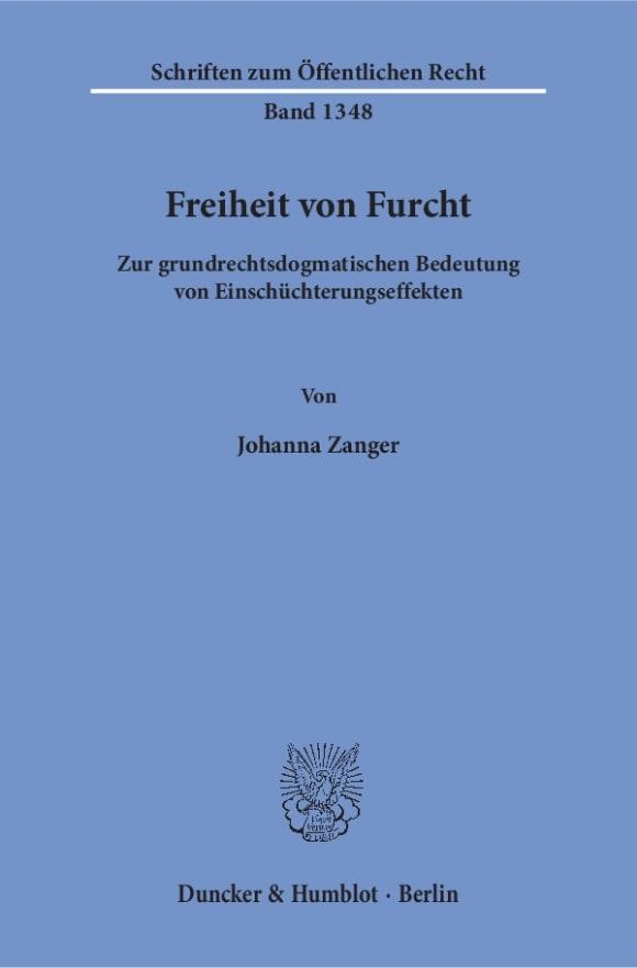 Cover Freiheit von Furcht