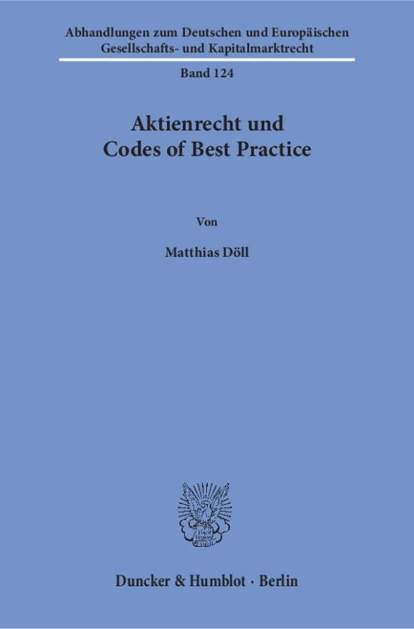 Cover Aktienrecht und Codes of Best Practice