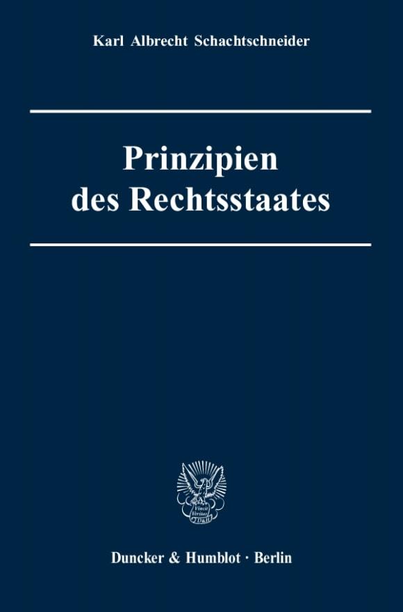 Cover Prinzipien des Rechtsstaates