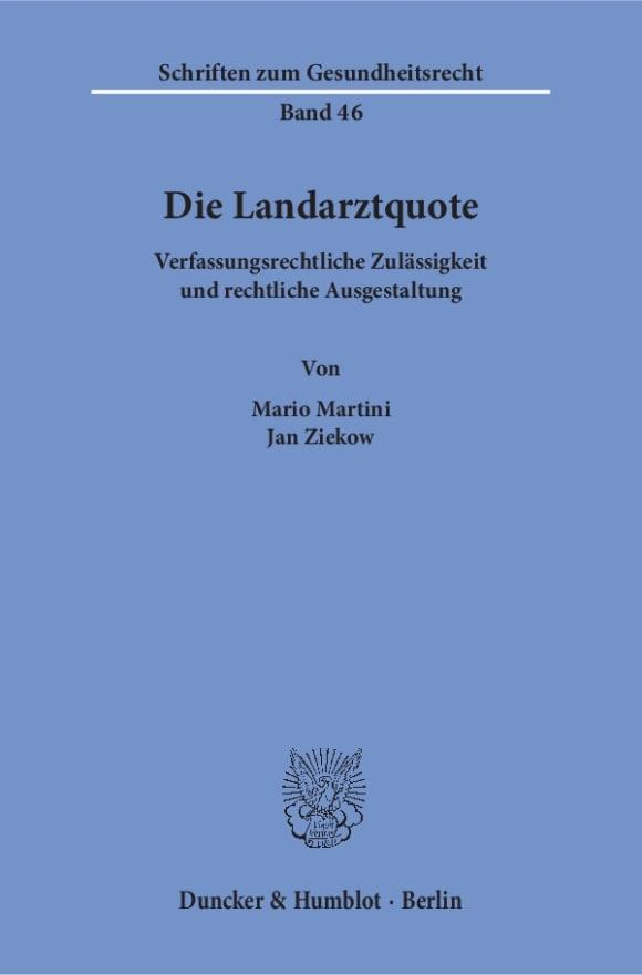 Cover Die Landarztquote