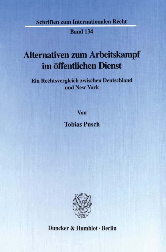 Cover Alternativen zum Arbeitskampf im öffentlichen Dienst
