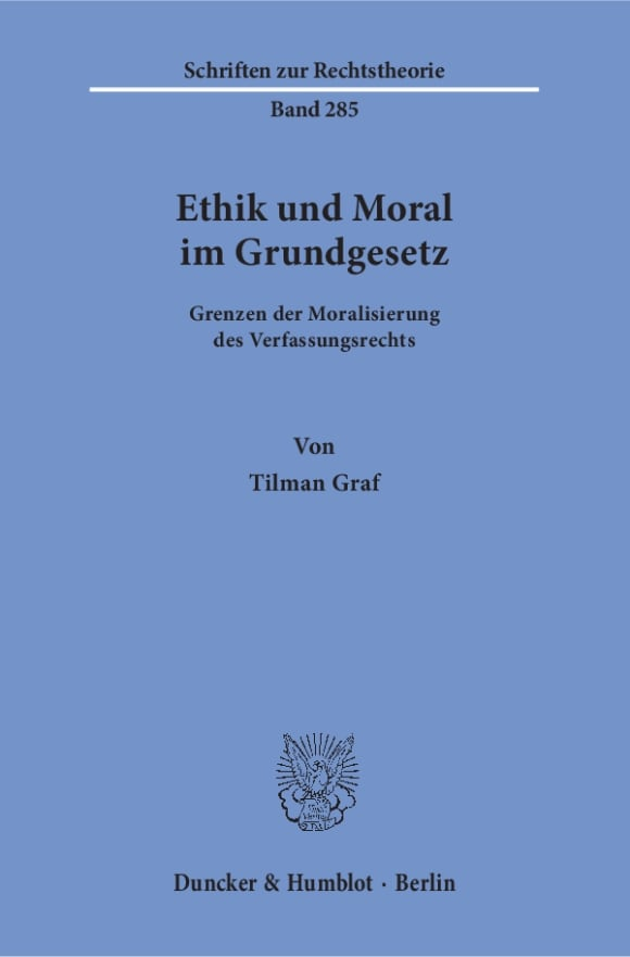 Cover Ethik und Moral im Grundgesetz