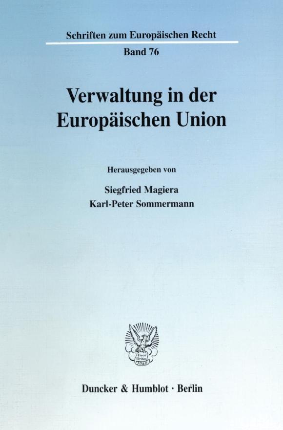 Cover Verwaltung in der Europäischen Union