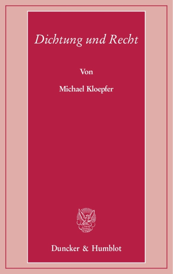 Cover Dichtung und Recht