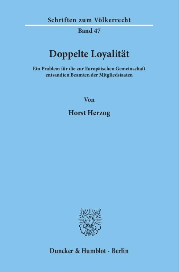 Cover Doppelte Loyalität