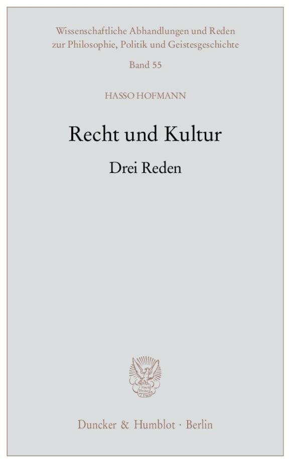 Cover Recht und Kultur