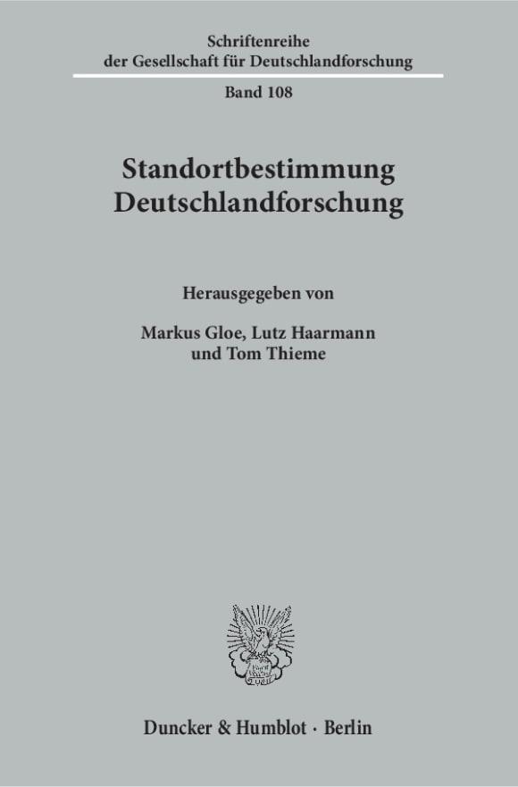Cover Standortbestimmung Deutschlandforschung