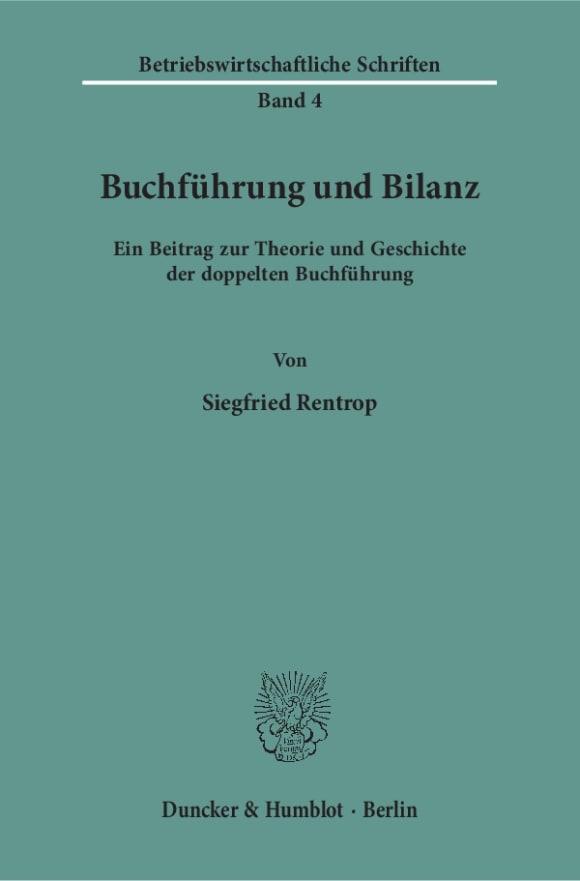 Cover Buchführung und Bilanz