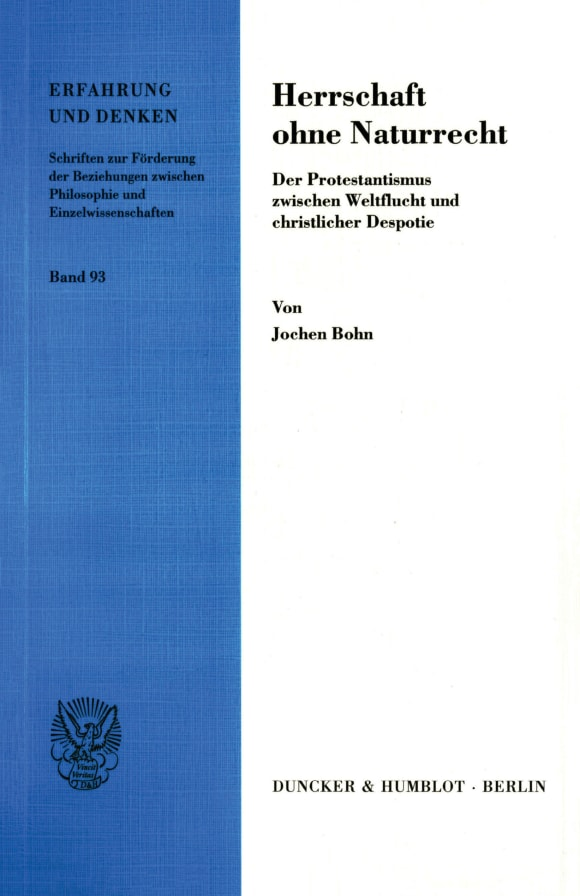 Cover Herrschaft ohne Naturrecht