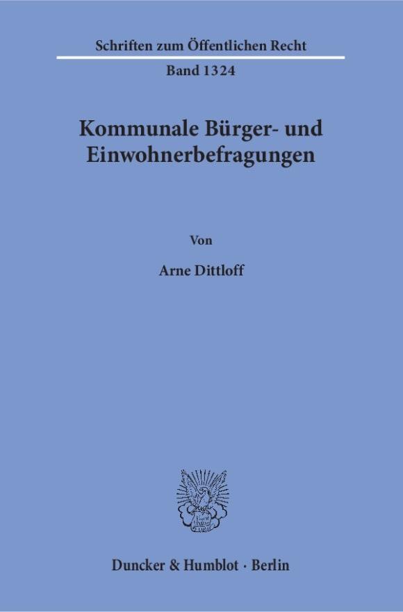Cover Kommunale Bürger- und Einwohnerbefragungen