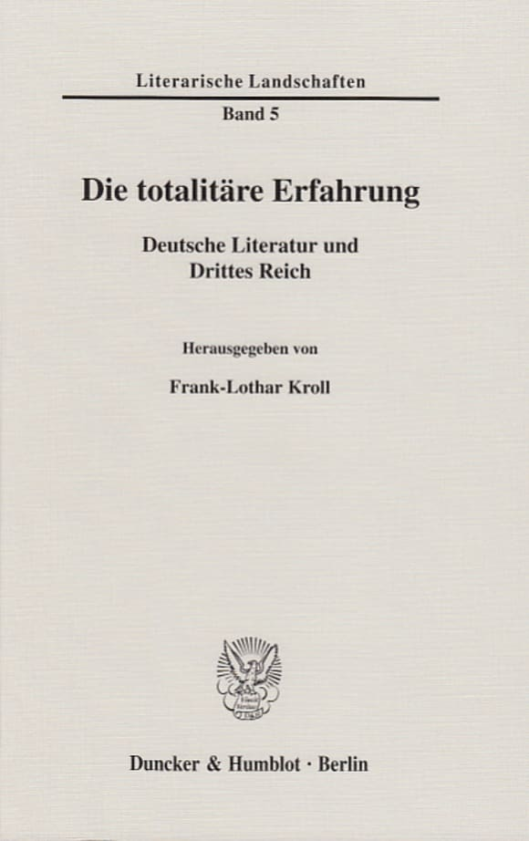 Cover Die totalitäre Erfahrung
