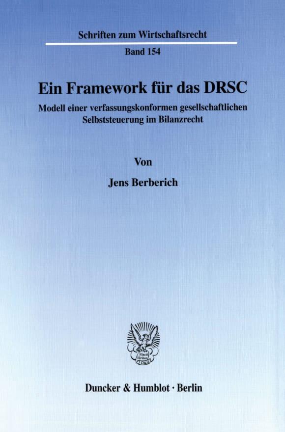Cover Ein Framework für das DRSC