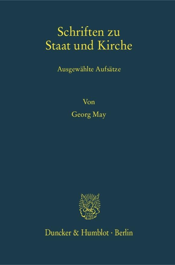 Cover Schriften zu Staat und Kirche