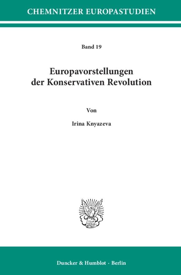 Cover Europavorstellungen der Konservativen Revolution