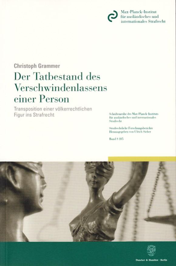 Cover Der Tatbestand des Verschwindenlassens einer Person