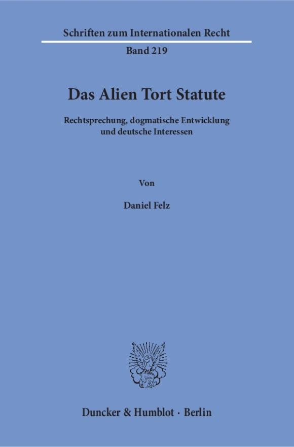 Cover Das Alien Tort Statute