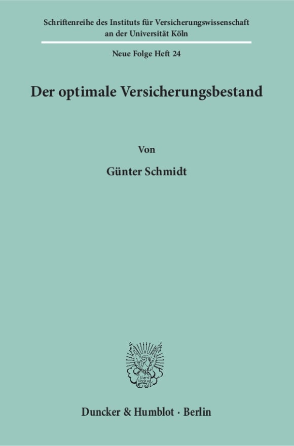 Cover Der optimale Versicherungsbestand