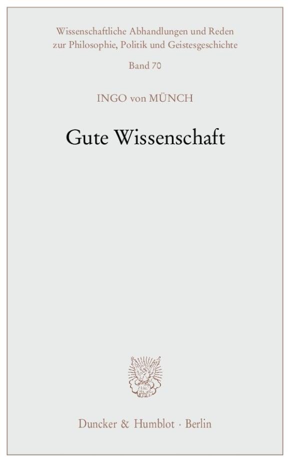 Cover Gute Wissenschaft