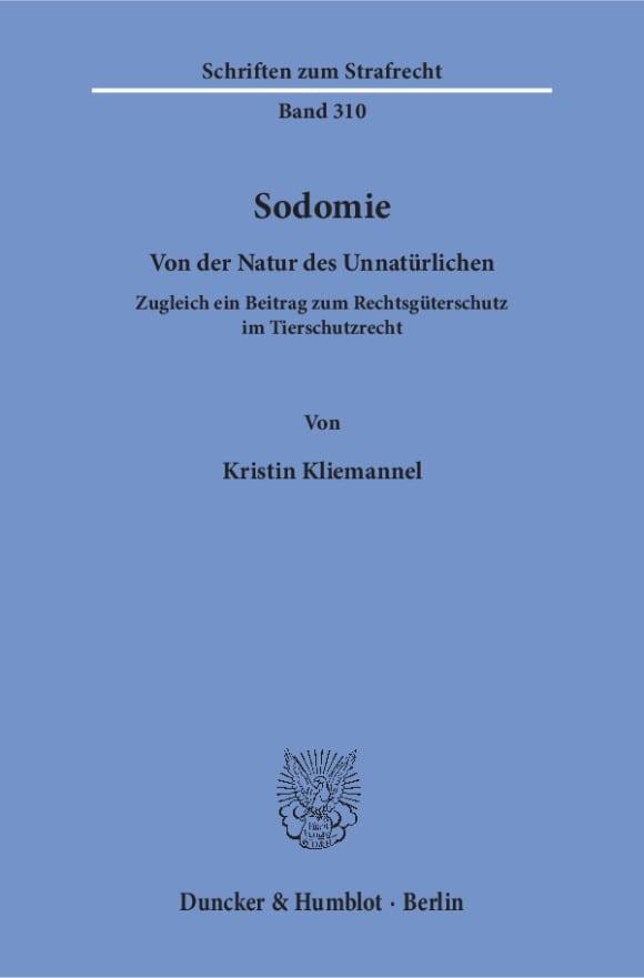 Cover Sodomie