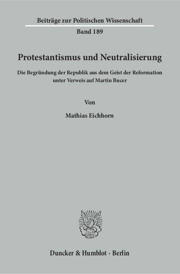 Cover Protestantismus und Neutralisierung