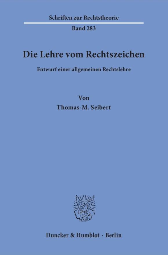 Cover Die Lehre vom Rechtszeichen