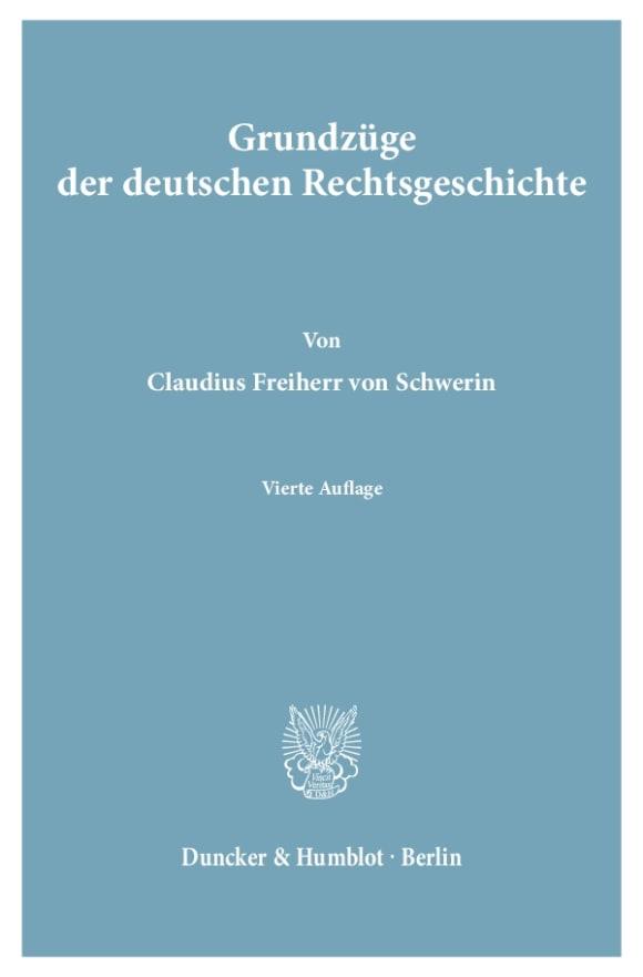 Cover Grundzüge der deutschen Rechtsgeschichte