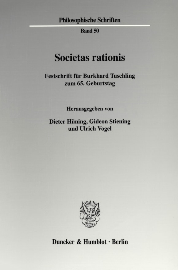 Cover Societas rationis
