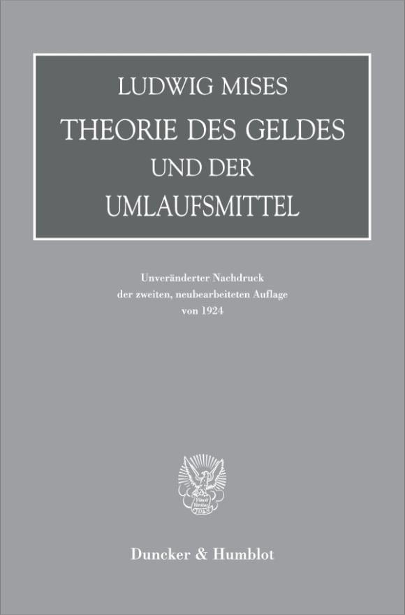 Cover Theorie des Geldes und der Umlaufsmittel