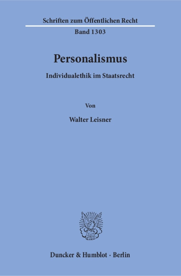 Cover Personalismus