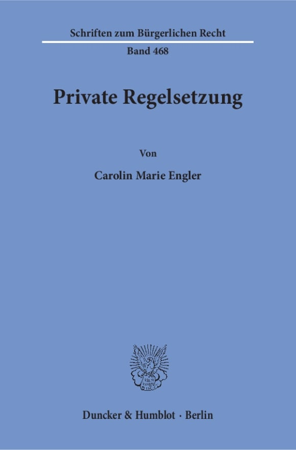 Cover Private Regelsetzung