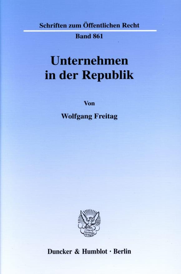 Cover Unternehmen in der Republik