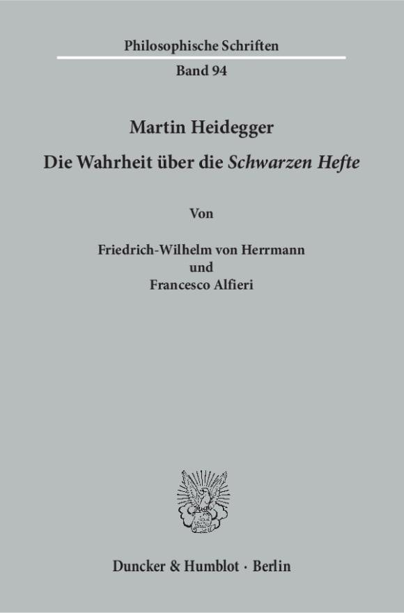 Cover Martin Heidegger