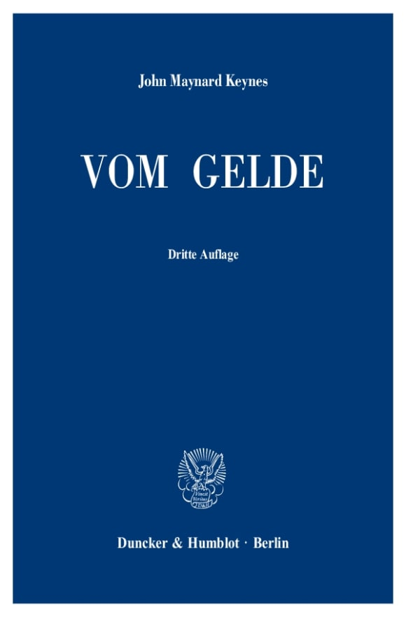 Cover Vom Gelde (A Treatise on Money)
