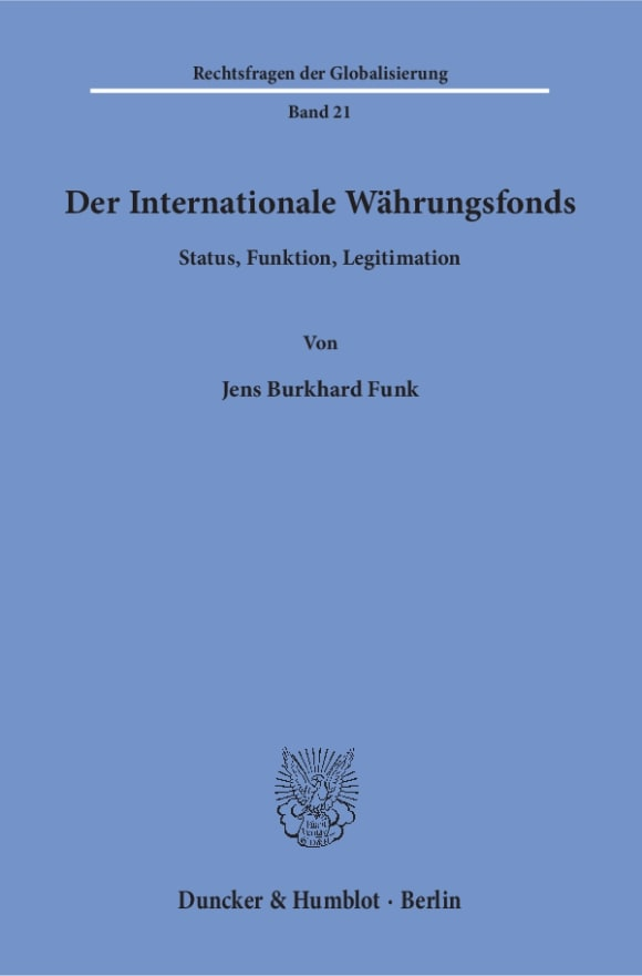 Cover Der Internationale Währungsfonds