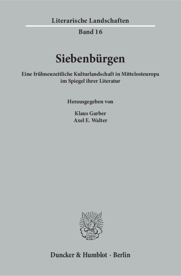 Cover Siebenbürgen