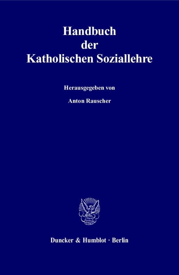 Cover Handbuch der Katholischen Soziallehre
