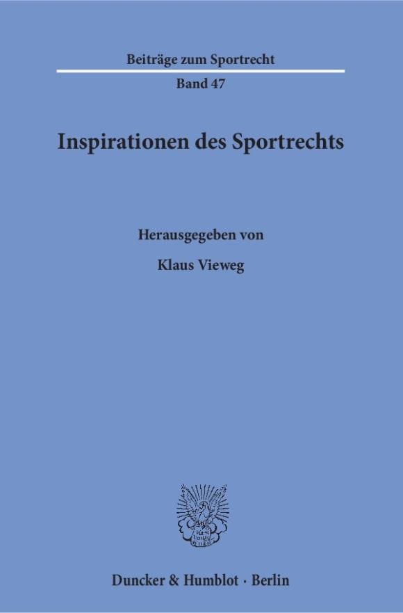 Cover Inspirationen des Sportrechts