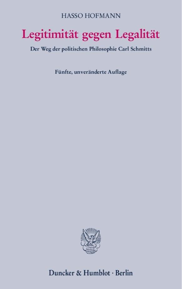 Cover Legitimität gegen Legalität
