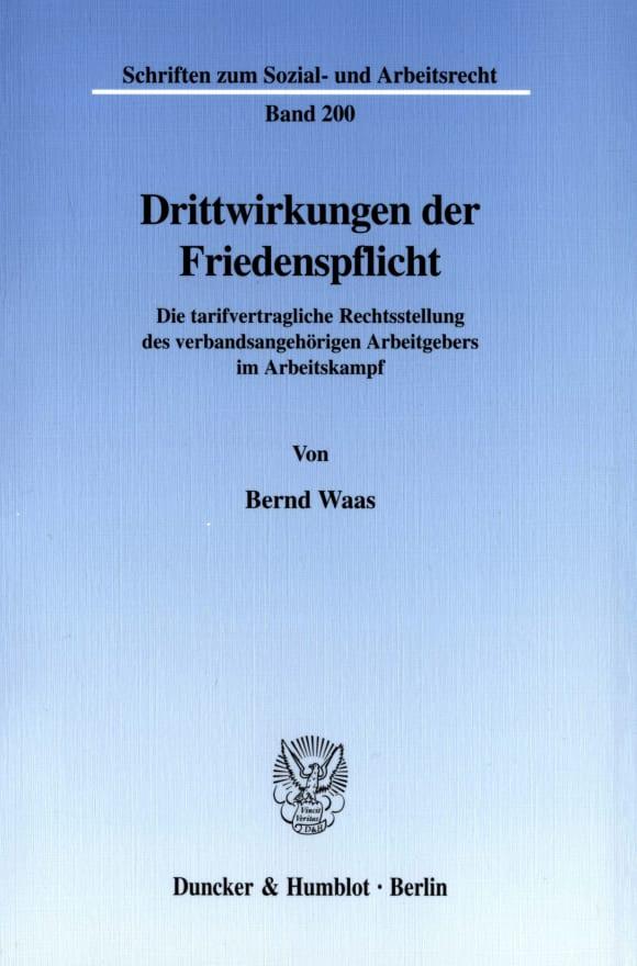 Cover Drittwirkungen der Friedenspflicht