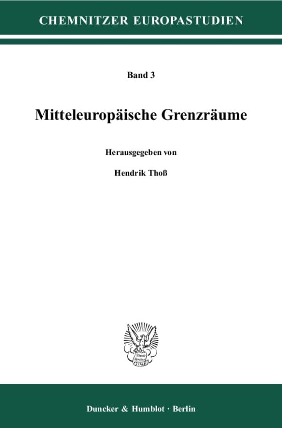 Cover Mitteleuropäische Grenzräume