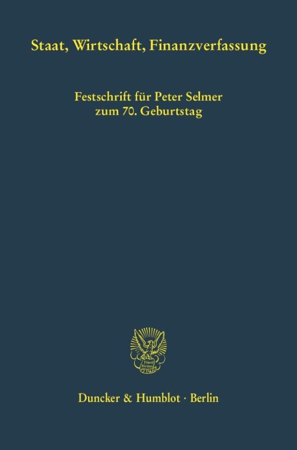 Cover Staat, Wirtschaft, Finanzverfassung