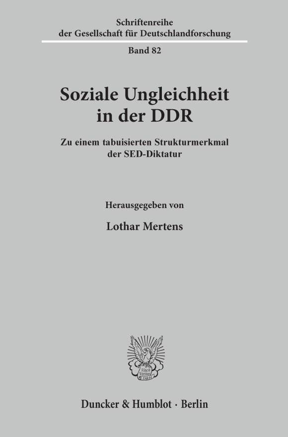 Cover Soziale Ungleichheit in der DDR